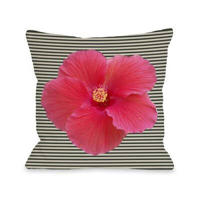 Melanie Flower Stripe Throw Pillow