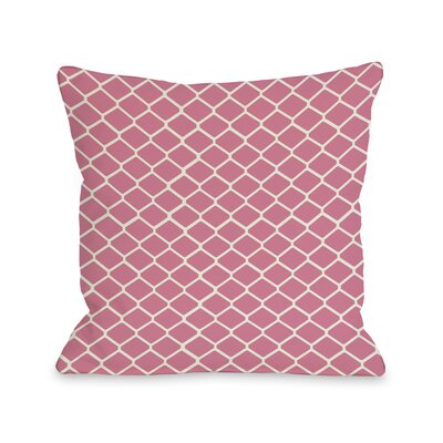Fence Throw Pillow Size: 18 H x 18 W, Color: Pink Ivory