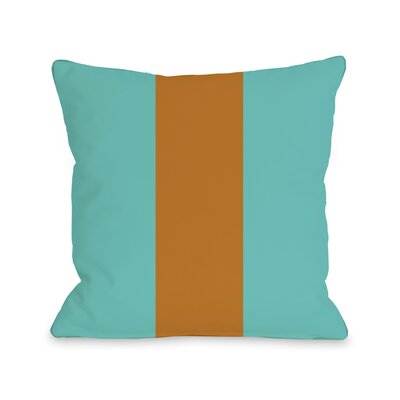 Main Line Throw Pillow Size: 18 H x 18 W, Color: Turquoise Orange