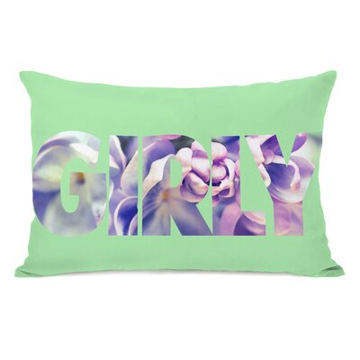 Girly Flowers Lumbar Pillow Color: Jade Multi
