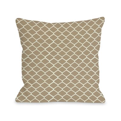 Fence Throw Pillow Size: 16 H x 16 W, Color: Tan Ivory