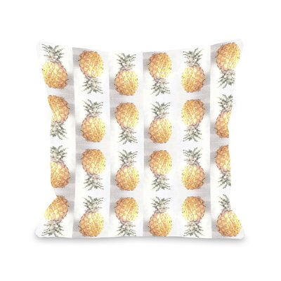 Pineapple Pattern Throw Pillow Size: 18 x 18