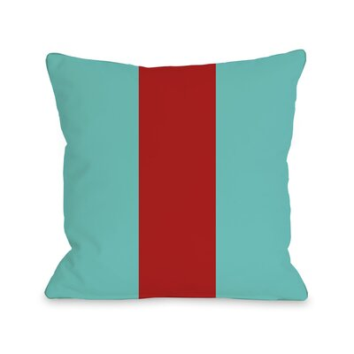 Main Line Throw Pillow Size: 18 H x 18 W, Color: Turquoise Red