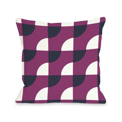 Janelle Geometric Throw Pillow Size: 16 H x 16 W, Color: Fuchsia