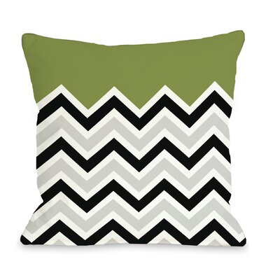Chevron Throw Pillow Size: 16 H x 16 W, Color: Green