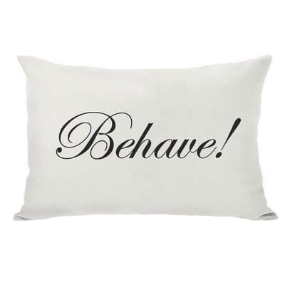 Behave or Not Reversible Lumbar Pillow Color: Black/Pink/Cream
