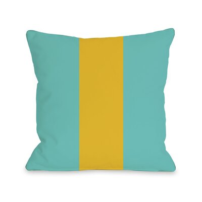 Main Line Throw Pillow Size: 18 H x 18 W, Color: Turquoise Yellow