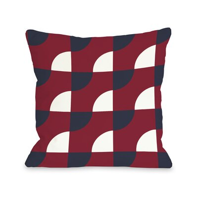 Janelle Geometric Throw Pillow Color: Red, Size: 18 H x 18 W