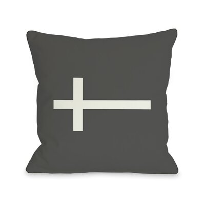 Single Cross Throw Pillow
