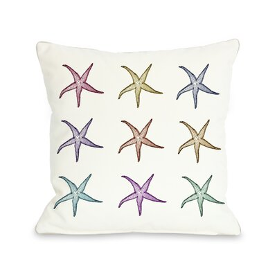 Starfish Pattern Throw Pillow