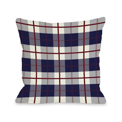 American Plaid Fleece Throw Pillow Size: 16