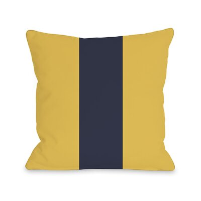 Main Line Throw Pillow Size: 16 H x 16 W, Color: Yellow Navy