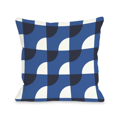 Janelle Geometric Throw Pillow Color: Strong Blue, Size: 18 H x 18 W