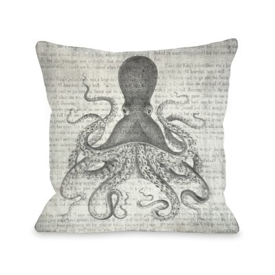 Vintage Octopus Throw Pillow Size: 16 x 16