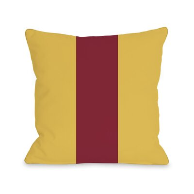 Main Line Throw Pillow Size: 16 H x 16 W, Color: Yellow Red
