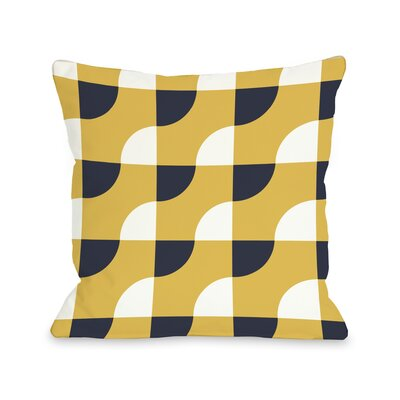 Janelle Geometric Throw Pillow Size: 16 H x 16 W, Color: Yellow