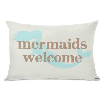 Gwendolyn Mermaids Welcome Lumbar Pillow