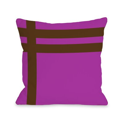 Meeting Stripes�Throw Pillow Color: Fuchsia Brown