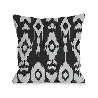 Forever Ikat Throw Pillow Color: Dark Gray Light Gray