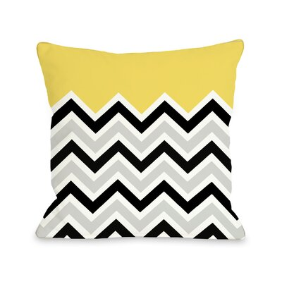 Chevron Throw Pillow Color: Yellow, Size: 18 H x 18 W