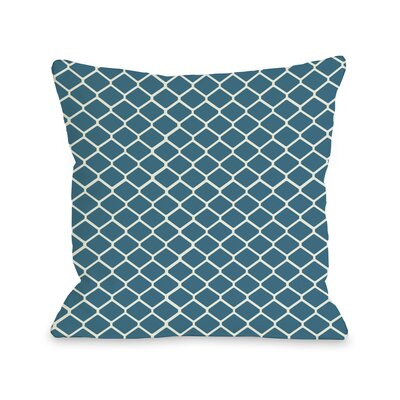 Linked Diamonds Throw Pillow Color: Blue Green