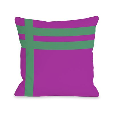 Meeting Stripes�Throw Pillow Color: Fuchsia Emerald