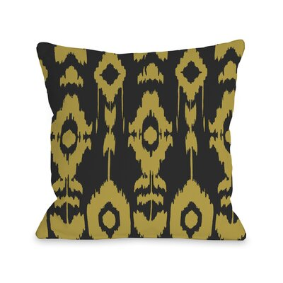 Forever Ikat Throw Pillow Color: Dark Gray Oil Yellow