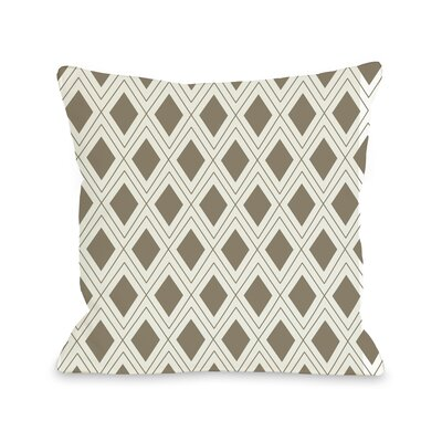 Criss Cross Diamonds Geometric Throw Pillow Size: 18 H x 18 W
