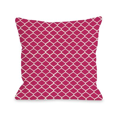 Linked Diamonds Throw Pillow Color: Fuchsia