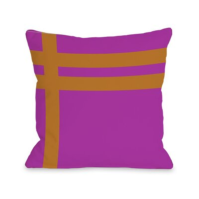 Meeting Stripes�Throw Pillow Color: Fuchsia Orange