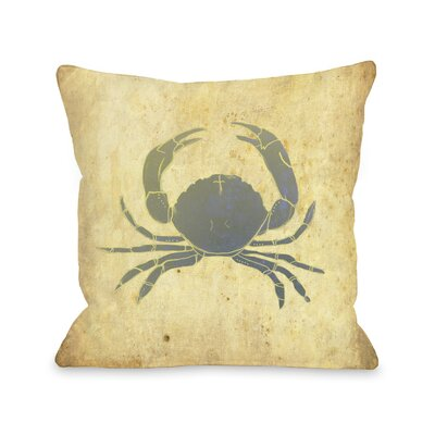 Crab Throw Pillow