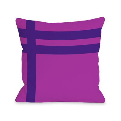 Meeting Stripes�Throw Pillow Color: Fuchsia Purple