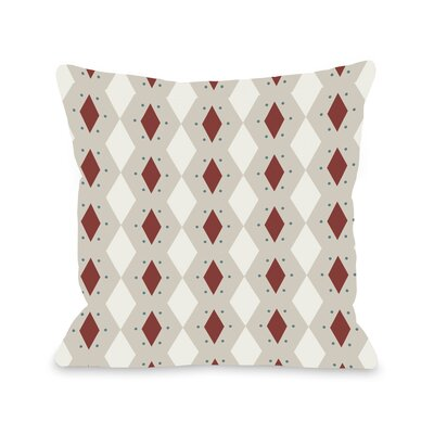 Diamond Dots Geometric Throw Pillow Size: 16 H x 16 W, Color: Brick