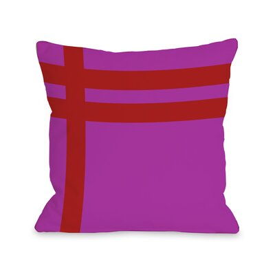Meeting Stripes�Throw Pillow Color: Fuchsia Red