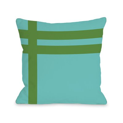 Meeting Stripes�Throw Pillow Color: Turquoise Green
