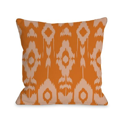 Forever Ikat Throw Pillow Size: 18 H x 18 W, Color: Orange Popsicle