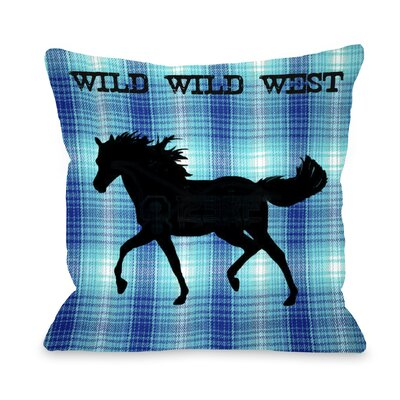Wild Wild West Horse Throw Pillow Size: 18 H x 18 W
