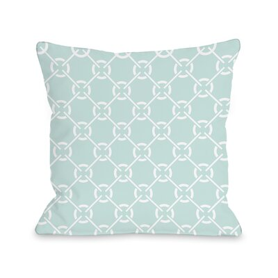 Ceciles Circles Throw Pillow Size: 18 H x 18 W, Color: Fair Aqua