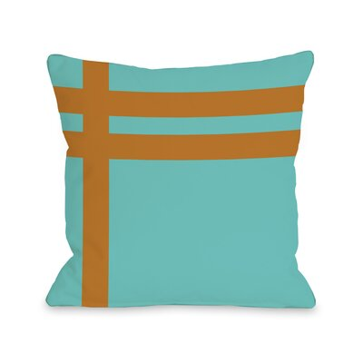 Meeting Stripes�Throw Pillow Color: Turquoise Orange