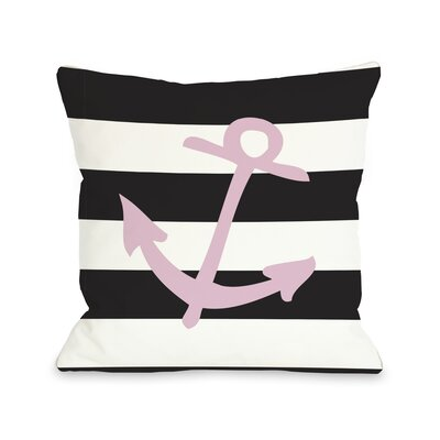 Striped Throw Pillow Size: 16 H x 16 W, Color: Pink