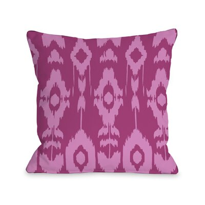 Forever Ikat Throw Pillow Size: 18 H x 18 W, Color: Raspberry Rose