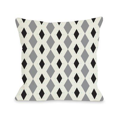 Diamond Dots Geometric Throw Pillow Size: 18 H x 18 W, Color: Gray