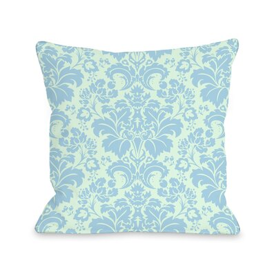 Altair Fleur Throw Pillow Size: 16 H x 16 W x 3 D, Color: Light Green / Blue