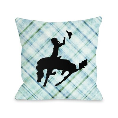 Plaid Cowboy Throw Pillow Size: 20 x 20