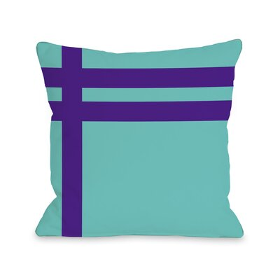 Meeting Stripes�Throw Pillow Color: Turquoise Purple