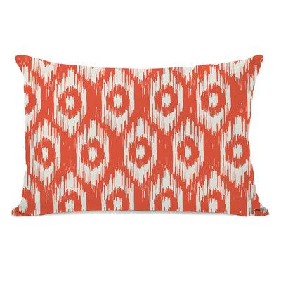 Kelly Ikat Lumbar Pillow Color: Orange Ivory