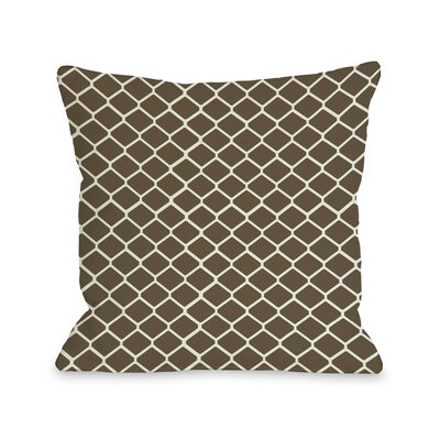 Fence Throw Pillow Size: 16 H x 16 W, Color: Brown Ivory