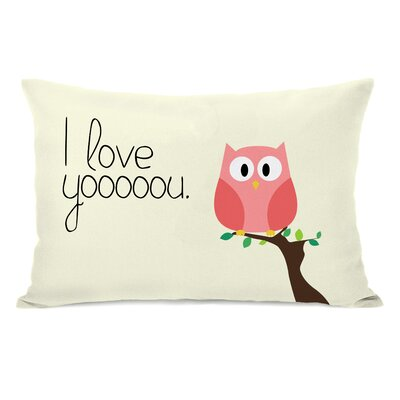 Santistevan I Love You Owl Lumbar Pillow