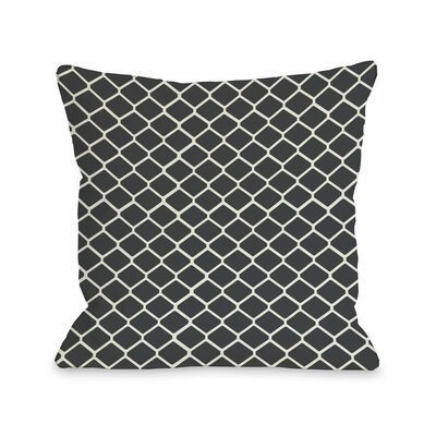 Fence Throw Pillow Size: 16 H x 16 W, Color: Gray Ivory