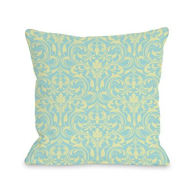 Athena Florals Throw Pillow Size: 18 H x 18 W x 3 D, Color: Light Blue/Pink